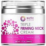 ACTIVSCIENCE Neck Firming Cream, Anti Aging Moisturizer for Neck & Décolleté, Double Chin Reducer, Skin Tightening Cream 1.7 fl oz.
