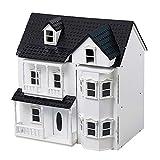 HILIROOM Cottage Maison de poupée en Bois, Maison de poupée Victorienne en Bois Classique, Maison de poupée pour Enfants avec des escaliers pour Les Enfants