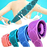 Brosse pour le bain en silicone, T.Face Exfoliating Long Silicone Body Back Scrubber,...