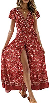 S=US 4-6, M=US 8-10,L=US 12,XL=US 14,XXL=US 16 This maxi features a wrap design, v-neckline,frill hemline and short butterfly sleeves making it an easy-to-wear statement piece; UNLINED. The Floral Long Maxi Dress Perfect for a slouchy barefoot beach ...