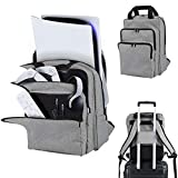 LVGOD Travel Carry Backpack Back Bag for PS5 Console and Playstation 5 Accessories Storage Proctection Backpack Messenger Bag Leisure Business Briefcase