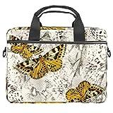 Bolso bandolera para portátil de 14,5 pulgadas, diseño de mariposas, para mujeres y hombres
