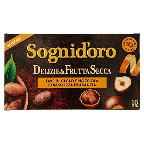 Sogni D'oro Tisana Delizie&frutta Secca Fave Cacao E Nocciola Con Scorza Di, 16 Filtri, Complemento Alimentare, Senza Calorie., Arancia, 40 Grammo