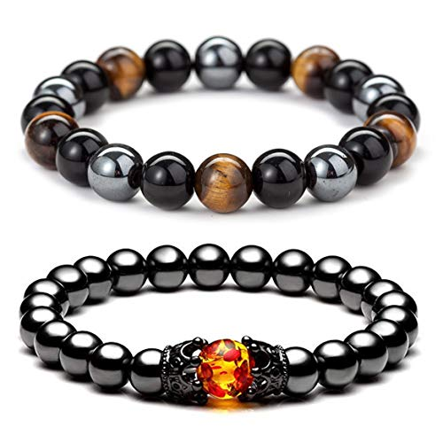 ZZ ZINFANDEL 8mm Triple Protection Hematite Magnetic Therapy...