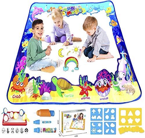 Acqua Doodle Tappeto Magico Bambini 100x80 Giochi Bambina 3 4 5 6 Anni Nuovo 2021 Idee Regalo Compleanno Bambino Lavagna Cancellabile Educativi Set Pennarelli Lavabili Punta Grossa Kit Disegno Colori