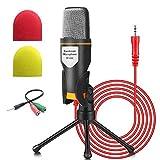 Micrófono de PC NIERBO con soporte de micrófono, micrófono de condensador de grabación...