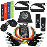 TRIBE Resistance Bands Set with Loop Bands I Exercise Bands for Men with Workout Bands, Loop Bands, Handles, Door Anchor, Ankle Strap, Carry Bag, Exercise eBook I Resistance Training Fitness Equipment