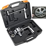 Torsion Torque Multiplier Wrench 1/2 inches, 3200N.M Lug Nut Remover, Labor Saving Wrench with 3 Sockets