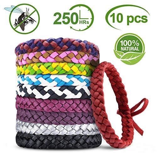 YQHbe Bracelet Anti Moustique, RéPulsifs Anti-Moustiques Bracelet 100%...