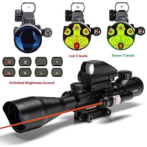 THEA C4-12X50 Scope Dual Illuminated Reticle W/RED Laser...