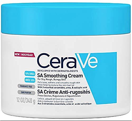 CeraVe SA Crema suavizante | 340 g/12 oz | Hidratante para p