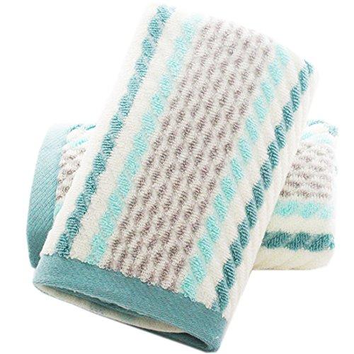 Pidada Hand Towels Set of 2 Striped Pattern 100%...