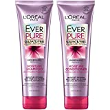 L'Oral Paris Hair Care EverPure Moisture Sulfate Free Shampoo & Conditioner Kit for Color-Treated Hair, Moisturizes + Replenishes Dry Hair, Combo (8.5 Fl. Oz each)