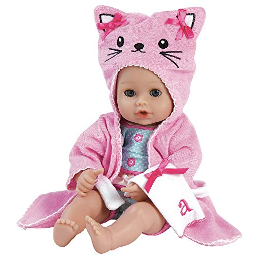 Adora BathTime Baby 'Kitty' - 13 Inch Baby Doll For Water Play. Quick Dry & Machine Washable. Perfect Bath Toys for 1 Year Old and Over