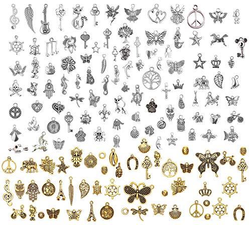 LABOTA 150 piezas Colgantes tibetanos del encanto de plata r