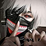 Japanese Anime Tokyo Ghoul Kaneki Ken Cosplay Full Face Head Mask Novelty Costume Party PU Leather Black Festival Mask