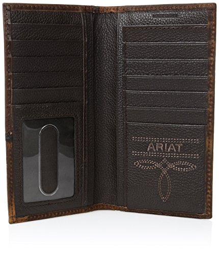 Ariat Men's Cross Corner Inlay Rodeo Western Wallet
