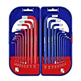 WORKPRO 18 Pc Long Arm Hex Key Allen Wrench Set with Hard Case, SAE &...