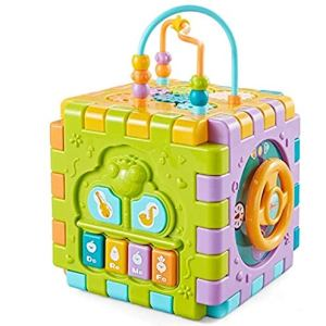 Skill improvement educational game toys | Activity cube multipurpose toy for kids