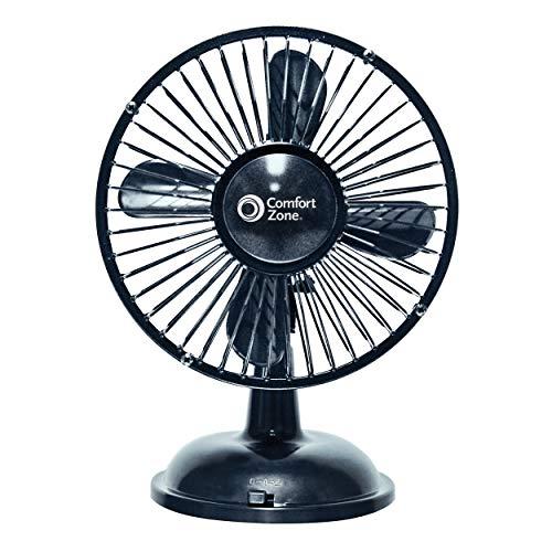 Comfort Zone 5' Oscillating Desk Fan, Black