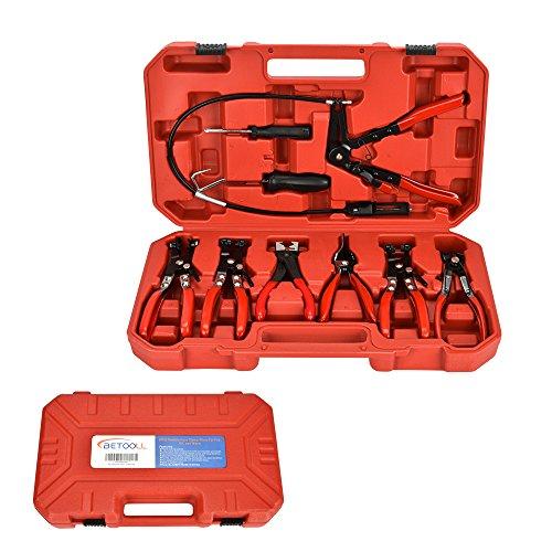 BETOOLL 9pcs Wire Long Reach Hose Clamp Pliers Set Fuel Oil Water Hose Auto Tools