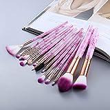 5/15 Piezas Juego de Herramientas de Pinceles de Maquillaje Polvo cosmético Sombra de Ojos Base Blush Blending Beauty Make Up Brush Maquiagem - 15 Piezas Rosa