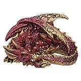 Nemesis Now U5289S0 Aaden Figurine Dragon Reposant Rouge et Doré, Résine,...