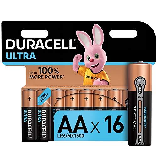Duracell Ultra AA Alkaline Batterien, Packung mit 16