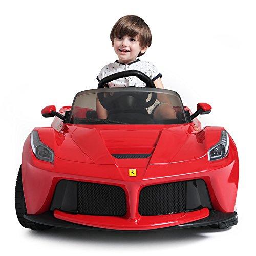 Rastar 12V Ferrari LaFerrari Kids Electric Ride On Car with MP3 and Remote Control - Red