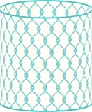 LampPix 10 Inch Table Lamp Shade - Marine Rope Aqua Canvas Desk Lampshade (Uno Fitting)