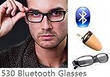 EDIMAEG 530 Lunettes Bluetooth pour mini oreillette espion sans fil comme...