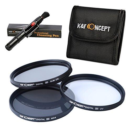 K&F Concept 52MM UV CPL ND4 52MM Filtro Kit UV Protector Polarizador Circular Filtro Densidad...