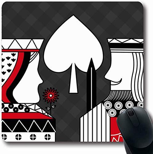 Luancrop Mousepad Oblong Joker Red Alice Casino Poker Regina King Spade Blackjack Astratto Lavagna...