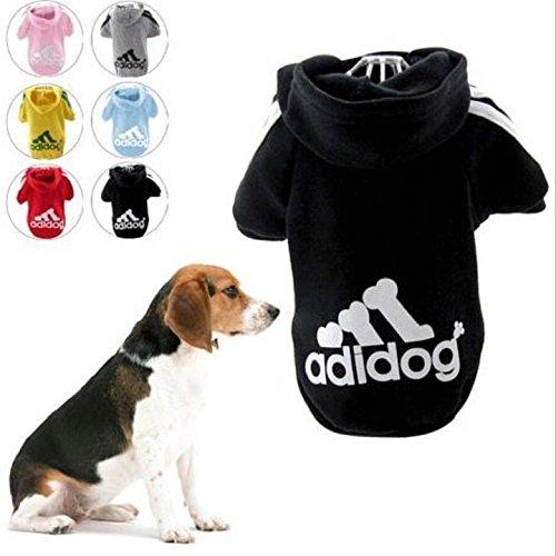"""KayMayn Hunde-Pullover mit Kapuze, Aufschrift """"Adidog"""", sportlicher Look, 7 Farben, in den Größen S bis 9XL"""