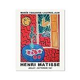 Pintura al leo impresa de la naturaleza muerta de la fruta de Matisse, carteles e impresiones, decoracin de la pared de la cocina del hogar, pintura en lienzo sin marco D 40x50cm