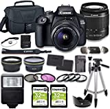 Canon EOS 2000D (Rebel T7) DSLR Camera Bundle with 18-55mm Lens + 2pc Kingston 32GB Memory Cards +...