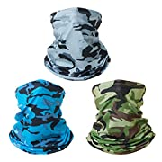 ☂ Lightweight & Breathable Material - This neck gaiter is made of quality durable breathable fabrics, to keep your face and neck cool and comfortable in hot summer. Colors do not run or bleed, drys quickly. The face scarf is breathable and lightweigh...