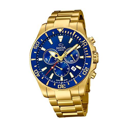 JAGUAR J864/2 Executive Collection Armbanduhr, 43,5 mm, blaues Gehäuse mit beschichtetem Stahlband