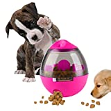 The weight of the AIBOONDEE automatic pet slow feeder treat ball is light, so the pet will move when playing, and the food will fall out during the movement. The pet can eat while playing, which will help the pet's gastrointestinal digestion. Please ...