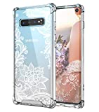 Cutebe Case for Galaxy S10,Shockproof Series Hard PC+ TPU Bumper Protective Case for Samsung Galaxy S10 6.1 Inch 2019 Release Crystal (White)