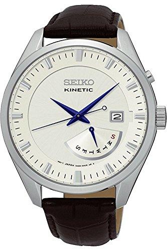 Seiko Herrenuhr Analog Quarz mit Lederarmband – SRN071P1