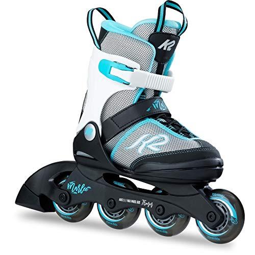 K2 Skates Mädchen Inline Skate Marlee — black - grey - light blue — L (EU: 35-40 / UK: 3-7 / US: 4-8) — 30B0202