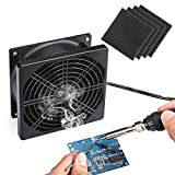 Solder Smoker Absorber Remover Fume Extractor Smoke Prevention Absorber DIY Working Fan Soldering with spare Carbon filter