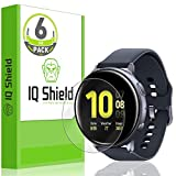 IQ Shield Screen Protector Compatible with Samsung Galaxy Watch Active2 (44mm, 2019)(6-Pack) LiquidSkin Anti-Bubble Clear Film