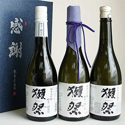 日本酒セット 獺祭 飲み比べ 純米大吟醸 磨き23・39・45 720ml 3本 感謝のギフト箱入 獺祭の純正包装紙で無...