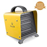 ISILER Space Heater, 1500W Portable Indoor Heater, Ceramic Space Heater with Adjustable Thermostat & Overheat Protection, Hot Cool Fan Electric Heater for Home Office Garage with ETL Certified