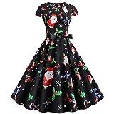 Robe Vintage pour Femme des années 50 Rockabilly rétro Père Noël Sugar...