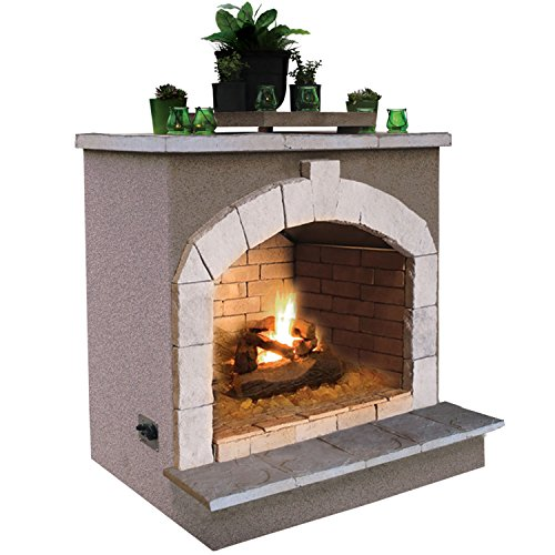 Cal Flame Fire FRP-906, 55,000 BTU Gas Outdoor Fireplace