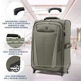 Travelpro Maxlite 5 Softside Lightweight Expandable Upright Luggage, Slate Green, Carry-On 22-Inch