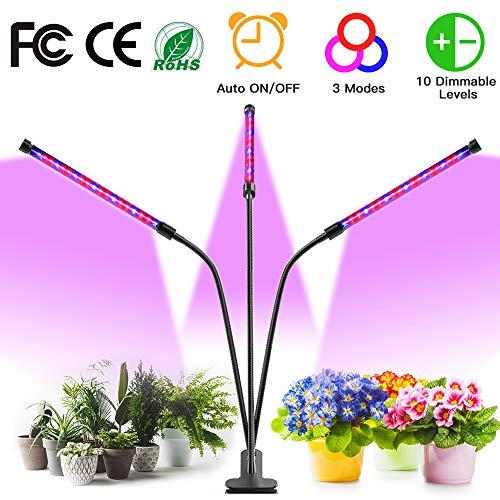 Pflanzenlampe LED 30W, WAKYME Pflanzenlicht Pflanzenleuchte Wachstumslampe Wachsen licht Grow Lampe Vollspektrum für Zimmerpflanzen mit Zeitschaltuhr, 10 Arten von Helligkeit, 3 Arten von Modus